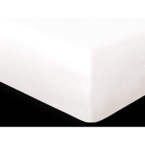 Soleil dOcre 622610 Prot/Ã/šge Matelas//Sommier Molleton Coton Blanc 190 x 140 cm