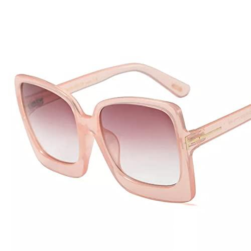 CJJCJJ Gafas de Sol con Montura Grande para Mujer Ojo de Gato gradiente Viajes al Aire Libre Gafas para Fiesta en la Playa Regalo