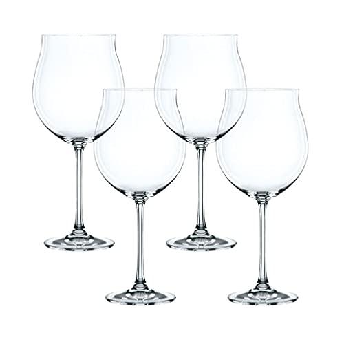 QIAOLI Copas de Vino irrompibles, Copas de Vino a Prueba de roturas Lavavajillas Copas de Vino Conjunto de 4 para el día de San Valentín, Aniversario, cumpleaños