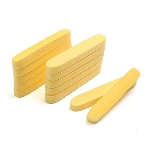 DealMux 12pcs Gelb Gesichtspflege Waschen Pad Gesichtsmake-up Entfernung Reinigung Puff Scrub Compressed Sponge