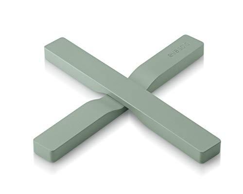 EVA SOLO 2 fermetures magnétiques - Nylon recouvert de silicone - Vert délavé.