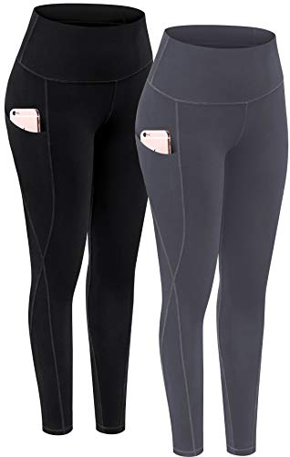 TOREEL Yoga Pants with Pockets for Women, High Waist Workout Leggings with Pockets Tummy Control