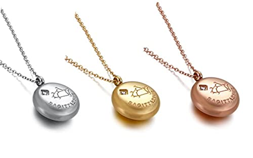 Women's Zodiac Sign 12 Constellation Pendant Necklace 3 Color Necklace Chain Gift Fashion Jewelry