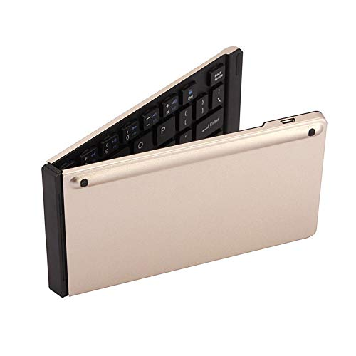 Foldable Bluetooth keyboard Ultra-thin Mini Bluetooth Keyboard Double Folding Bluetooth Keyboard Portable Aluminum Wireless Keyboard Is Very Suitable For Editors And People Who Travel Frequently recha