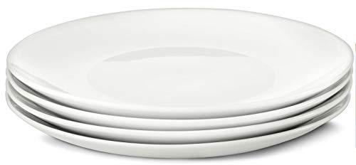 4 Frühstücksteller weiß Teller Porzellan Kuchenteller