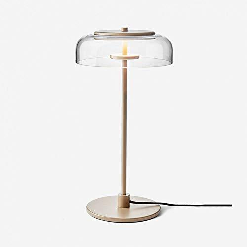 JFHGNJ Wandlamp Moderne loft bedlampje glas LED tafellamp creatieve Italiaanse ontwerper Bowl slaapkamer studie hotelkamer tafellamp