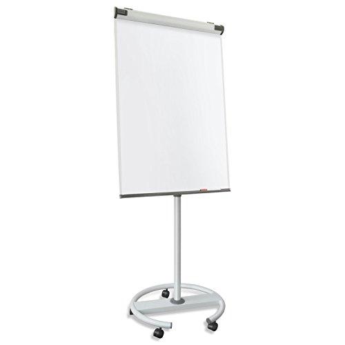 Master of Boards® Design Flipchart | mobil, Rollenfuß-Gestell | ausklappbare Papierhalter | Whiteboard mit Ständer | verstellbar