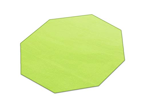HEVO Romeo grün Teppich | Kinderteppich | Spielteppich 200 cm Achteck