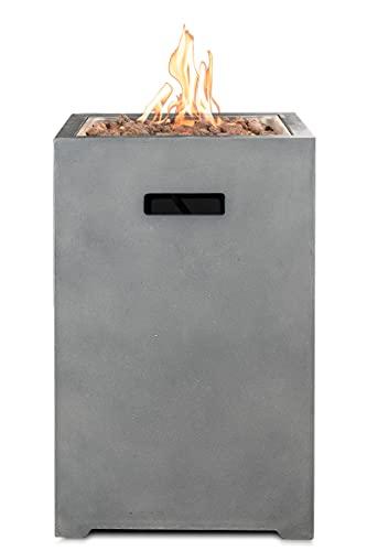 Clifton Gaskamin Compact Square Grey Garten Gasofen Heizpilz Feuerstelle Terassenkamin Kamin