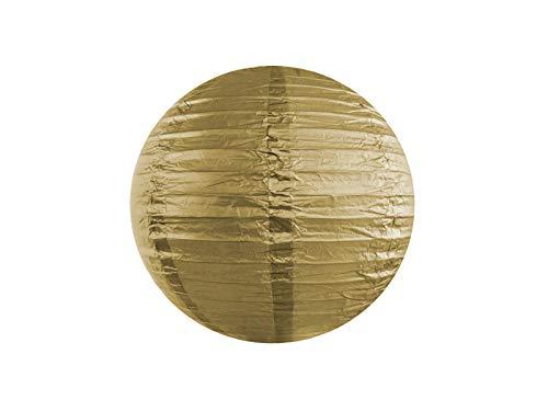 DaLoKu Set 5 Stück Papierlaterne Lampion 20/25/35/45cm Lampenschirm Hochzeit, Größe: 20cm, Farbe: Gold