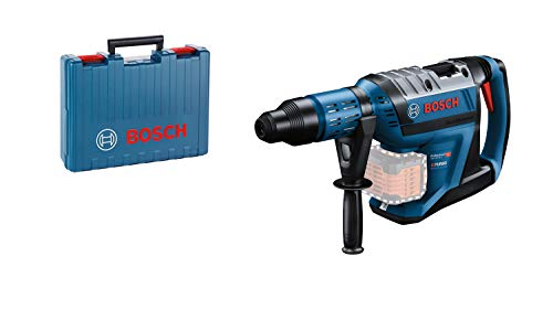 Bosch Professional BITURBO GBH 18V-45 C - Martillo perforador combinado a batería (18V, 12,5 J, Ø máx. hormigón 45 mm, SDS max, Connectivity, sin batería, en maletín)