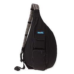 top 10 kavu shoulder bags KAVU rope bag, black, fits all in one size