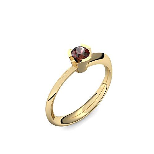 Goldring Granat 585 + inkl. Luxusetui + Granat Ring Gold Granatring Gold (Gelbgold 585) - Devious Amoonic Schmuck Größe 50 (15.9) MW14 GG585GRFA50