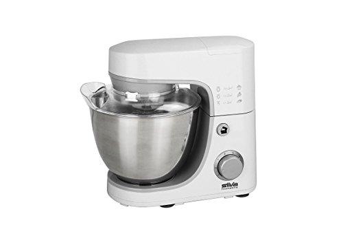 Silva-Homeline KM 4020 600 Watt Küchenmaschine mit Planetengetriebe, Plastik, 4.2 liters, Weiß/silber
