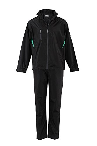 Best Review Of Forgan Golf V2 Mens Waterproof Rainsuit Black Medium