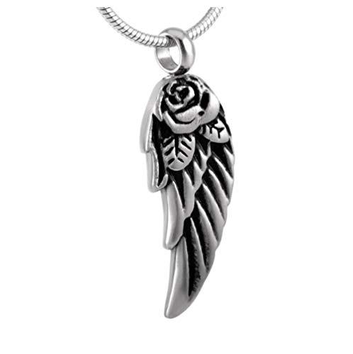 nxychunmei Asche Hot Angel Wings Memorial Schmuck Souvenir Esche Box Halskette Feuerbestattung Anhänger Asche Box
