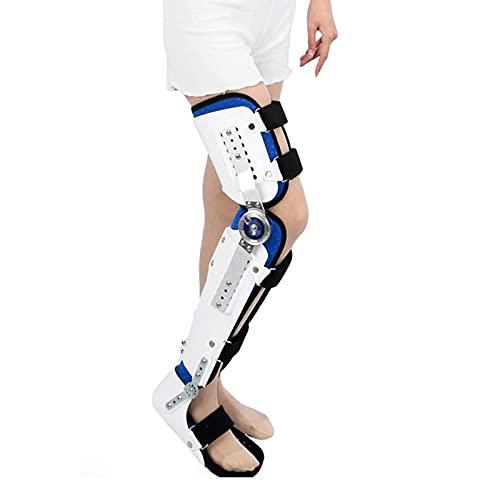 NNBD Soporte para Rodilla Y Pie, Protección Inmovilizadora Ortopédica De Rodilla Ajustable Después De La Cirugía, Férula Ortopédica para Rodilla con Estabilizador De Pierna Completo,Right