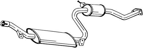 Mittelschalldämpfer (1220-13434) Dämpfer Abgasanlage Auspufftopf