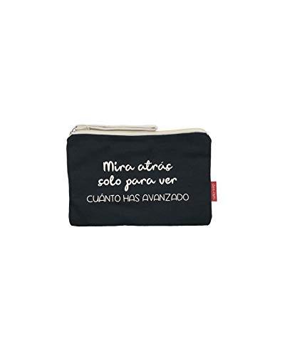 Make-uptas/handtas. 100% katoen zwart met ritssluiting en binnenvoering 23 x 15,5 cm. Met krachtige geschenkzakje.