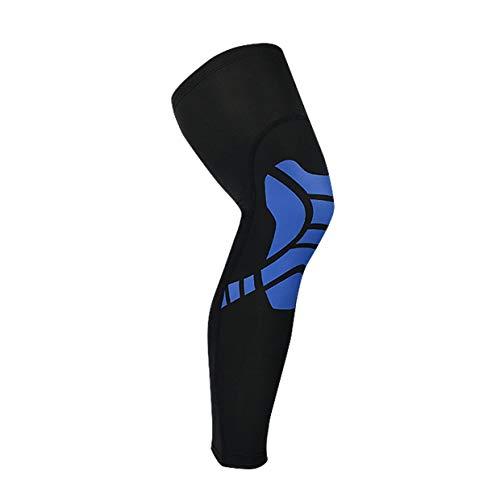 YUIO Rodilleras Mangas Rodillera elástica Cómoda rodillera Compresión de circulación mejorada para el dolor articular Alivio de la artritis (negro y azul (M))