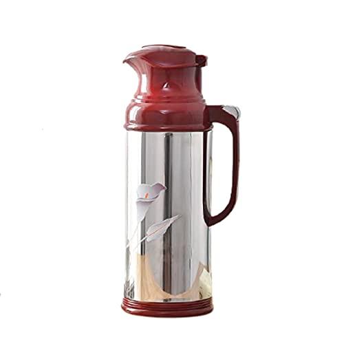 LANGCA Aislamiento Pot Thermos, Coffee Jarrafe, Aislamiento de Doble vacío Acero Inoxidable, 36 Horas Preservación de Calor Duradera, Base extraíble y Lavable,Coffee Red