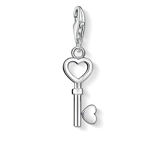 Thomas Sabo Damen Charm-Anhänger Schlüssel Herz Charm Club 925 Sterling Silber 0888-001-12
