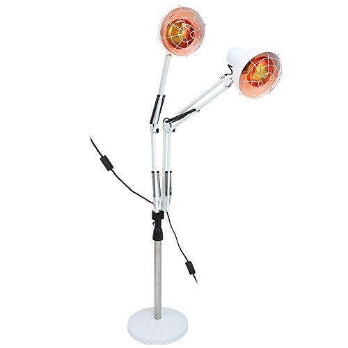 275W Ferninfrarot Wärmelampe, Heizungsphysiotherapie Instrument Gesundheitslampe, Muskelentlastung Linderung Erkältung und Förderung Durchblutung Bodeninfrarotlampe mit Ständer und flexiblem Arm