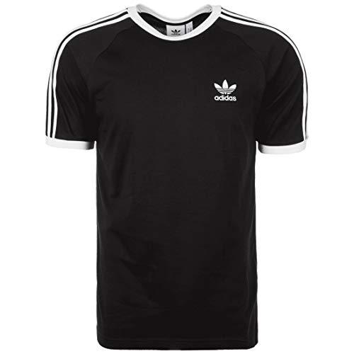 Adidas 3 Stripes - Camiseta blanco/negro L