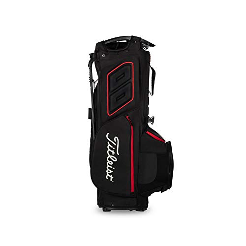 Product Image 4: Titleist - Hybrid 14 Golf Bag - Black/Black/Red