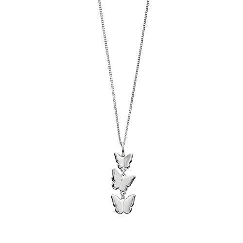 Elements Silver - Collana da donna in argento silver con ciondolo a forma di farfalle realizzata nei minimi particolari