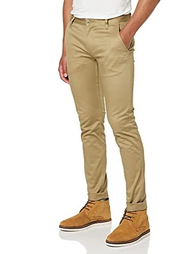 Dockers Alpha Original Khaki Skinny - Lite, Pantalones Hombre, Marrón (New British Khaki), W32/L30