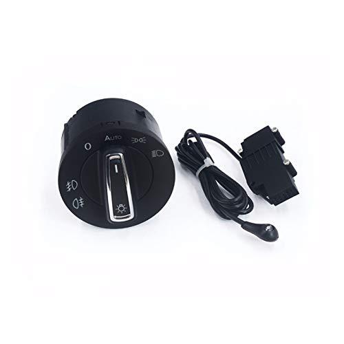 Jingshi SYUCHENG Sensor de luz automática con la Perilla del Interruptor de la luz Delantera Ajuste para VW Golf 7 MK7 Polo Nuevo Turno Turnano T-Roc Tarraco Transportador 5G0941431B 431BF