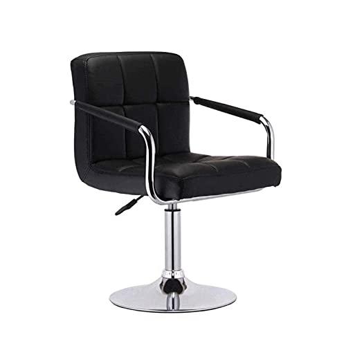 Silla de Oficina Ergonómica Silla de la oficina de silla de juego con reposabrazos Silla de bar de vinos, levantamiento y rotación de silla de altura de pie recepción de recepción silla giratoria