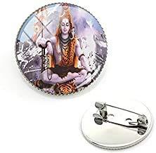 Broches de cristal con forma de cúpula de cabujón religioso para el Señor Shiva