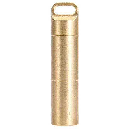 Mini-Kapsel Pillendose Metal Pillenbox Tablettenbox Pille Box aus Messing