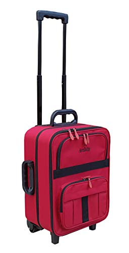 Acclaim Redcar Professional Bowlers Bowls Level Green Lawn Flat Short Mat Indoor & Outdoor Trolley Bowling Bag (Red/Black Trim)