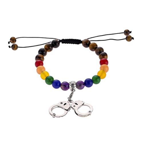 PRETYZOOM Pride Regenboog Armband etherische olie Diffuser Armbanden Relatie Paar Armbanden voor Gay Lesbische
