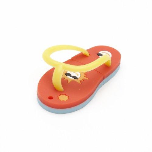 Aricona Funny Design USB Stick by Form Flipflop 4 GB, schneller USB 2.0/1.1, Coole, lustige Figur Speichersticks mit Plug&Play, originelle, witzige Motiv Sticks, das besondere Geschenk