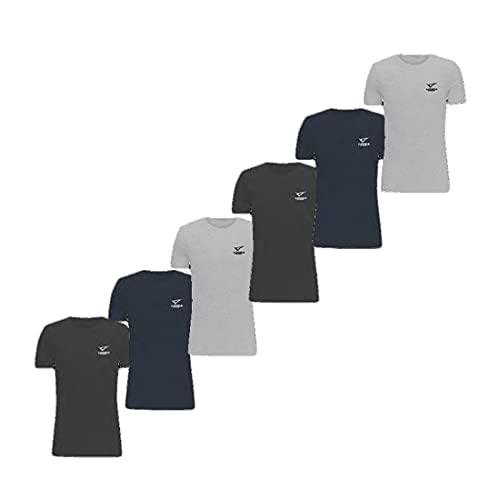 LEGEA, 6 Tshirt Uomo Basic in Cotone Elasticizzato Collo a Giro. Colore Assortito Taglia 5-L