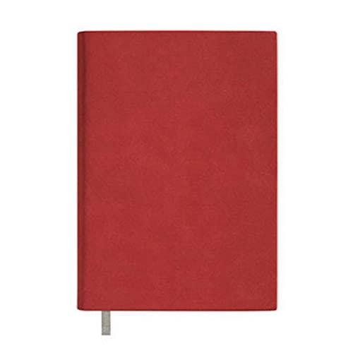 Cuaderno, Diario, Diario A5 Sheepskin Soft Cuero Cuaderno Cuaderno Bloc de notas engrosado Estudiante Aprendizaje Sencillo presente Cuaderno Diario Creativo (Color: Rojo de vino, Tamaño: No hay caja d