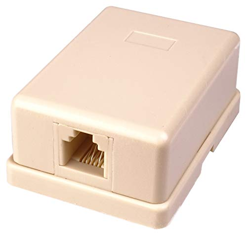 Premium Cord - Toma de teléfono en la Pared (1 Conector RJ11, autoadhesiva)