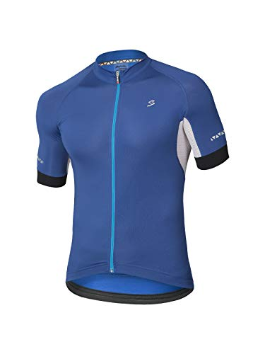 Spiuk Maillot M/C Helios Hombre Azul T. XL, Talla