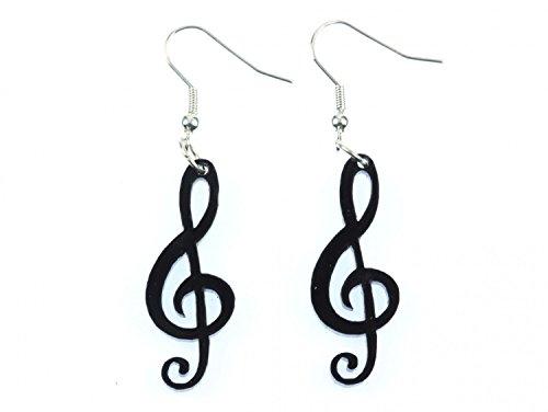 Violinschlüssel Ohrringe Miniblings Noten Musik Musiker Notenschlüssel schwz