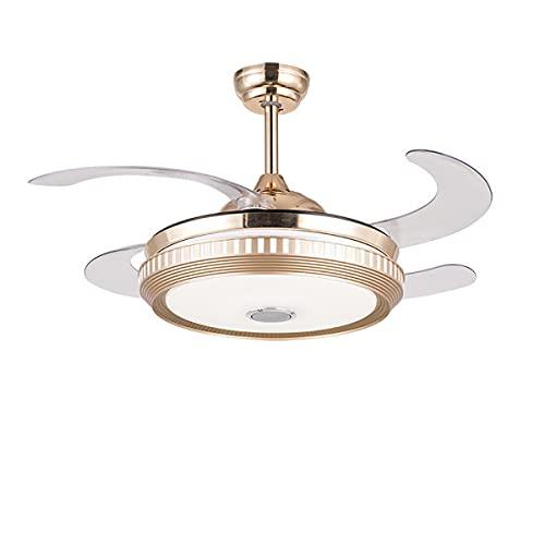 Luz de techo LED regulable, Lámpara de techo Bluetooth Música Lámpara de techo con integración remota y LED Luz de tres colores para dormitorio Sala de estar Cocina Comedor