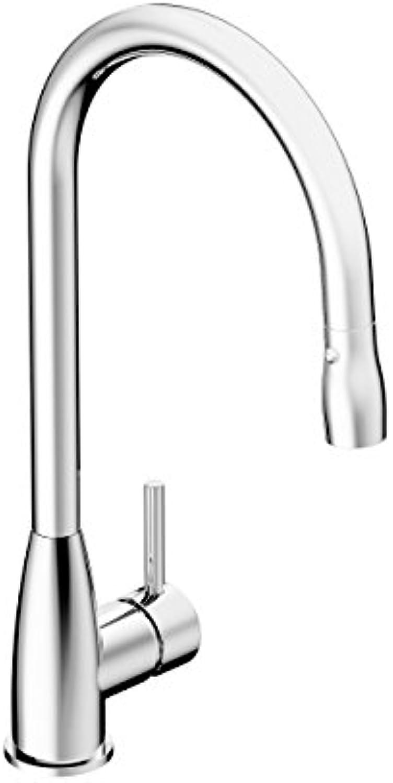 CHRIS BERGEN Valenta     Schwenkbare Design-Küchenarmatur     ausziehbare Handbrause mit zwei Strahlarten