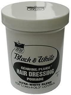 Black & White Genuine Pluko Hair Dressing Pomade 7oz