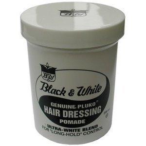 Black & White Genuine Pluko Hair Dressing Pomade 7oz by Unknown