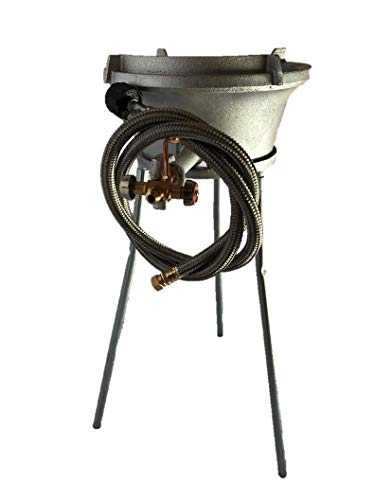 PowerFlamer Outdoor Long Leg High Pressure Propane Manual Ignition Wok Burner