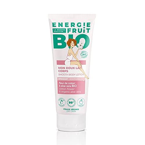 ENERGIE FRUIT   Lait Corps Apaisant   Certifié BIO par Ecocert   Fleur de Coton & Aloe Vera   Vegan   200ml