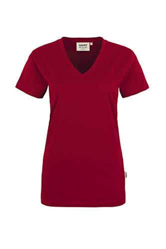"HAKRO Damen V-Shirt ""Classic"" - 126 - weinrot - Größe: M"